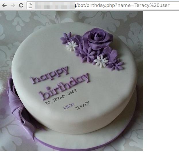 Birthday Cake Text Generator